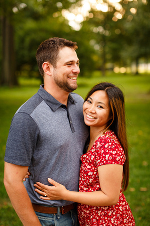 Relaxed, Fun Engagement Portraits